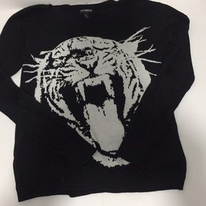 Express sweater tiger design size small